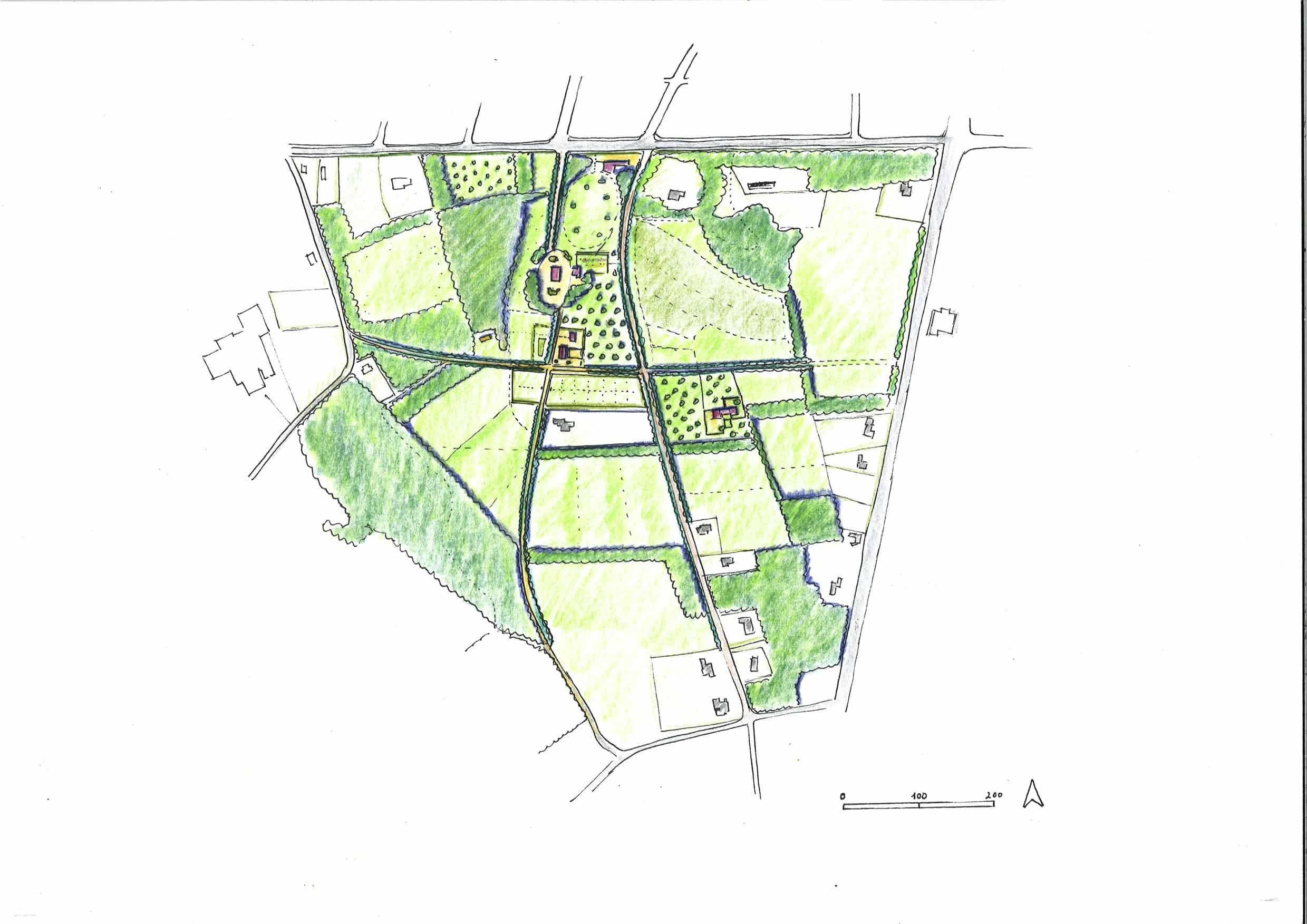 Kaartbeeld van Masterplan Voedsellandschap Zuidflank Landgoed Grootstal
